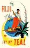 Fiji- Fly By Teal Masterprint
