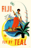 Fiji- Fly By Teal Masterprint