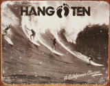 Hang Ten Tin Sign