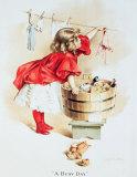 Chica lavando con jabón Ivory Carteles metálicos