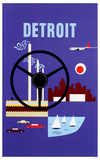 Detroit-Fly Northwest Masterprint