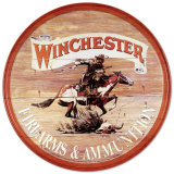 Plaque circulaire Winchester Plaque en métal