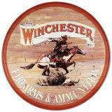 Anuncio de armas y municiones Winchester con jinete Cartel de chapa