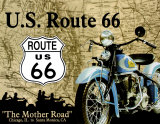 Route 66 - La route par excellence Plaque en métal