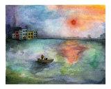 Girl in Boat Giclee Print by Miriam Nerlove