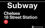 New York - Chelsea 18 Street Station Tin Sign