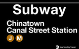 Subway Chinatown- Canal Street Station Tin Sign