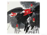 Lotuses Against Sunlight Giclee Print by Wang Kae