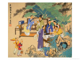 Gathering of Intellectuals Giclee Print by Wang Kae