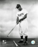 1948 Jackie Robinson Pose With Bat Photo