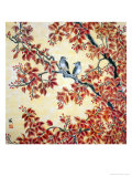 Twin Birds in Red-Leaf Tree Reproduction proc&#233;d&#233; gicl&#233;e par Feng Yan