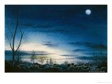 Night of North Sea Giclee Print by Chen Kwodong