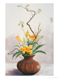 Yellow Lilies Giclee Print by Chen Kwodong