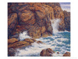 Splashing Against Coast Gicl&#233;e-Druck von Chao Tsungkwan