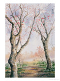 Plum Tree Lovers Giclee Print by Chen Kwodong