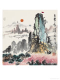 Reach the Mountain Top Reproduction procédé giclée par Lv Jiashu