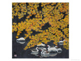 Geese in Winter Giclee Print by Feng Yan