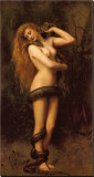 Lilith Stretched Canvas Print by John Collier