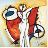 Amor infinito|Endless Love Reproducción en lienzo de la lámina por Gockel, Alfred