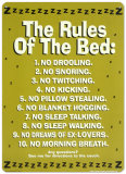 The Rules Of The Bed Cartel de chapa