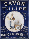 Seife &quot;De la Tulipe&quot; Blechschild