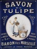チューリップの石鹸 ブリキ看板