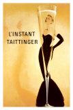 O momento Taittinger, em francês Pôsters
