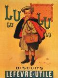 Galletas Lu Lu, en francés Cartel de chapa