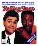Jay Leno and Arsenio Hall, Rolling Stone no. 564, November 1989 Photographic Print by Bonnie Schiffman