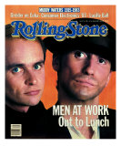 Men at Work, Rolling Stone no. 398, June 1983 Photographic Print by Aaron Rapoport