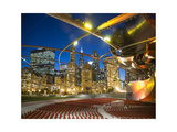 Millennium Park  outdoor theater Photographic Print by Patrick  J. Warneka