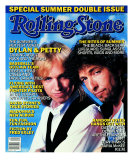 Tom Petty and Bob Dylan, Rolling Stone no. 478/479, July 1986 Photographic Print by Aaron Rapoport