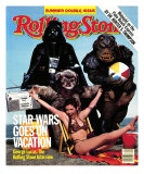 Cast of Return of the Jedi, Rolling Stone no. 400/401, July 1983 Impressão fotográfica por Aaron Rapoport