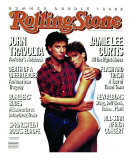 John Travolta and Jaime Lee Curtis, Rolling Stone no. 452/453, July 1985 Photographic Print by Patrick Demarchelier