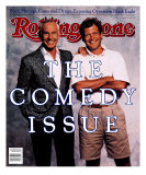 Johnny Carson and David Letterman, Rolling Stone no. 538, November 1988 Photographic Print by Bonnie Schiffman