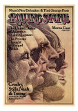 Crosby, Stills, Nash and Young, Rolling Stone no. 168, August 1974 Photographic Print by Dugard Stermer