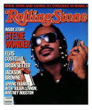 Stevie Wonder, Rolling Stone no. 471, April 1986 Photographic Print by Mark Hanauer