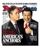 Jon Stewart and Stephen Colbert, Rolling Stone no. 1013, November 2006 Photographic Print by Robert Trachtenberg