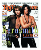 Steven Tyler and Joe Perry, Rolling Stone no. 867, April 2001 Photographic Print by Mark Seliger