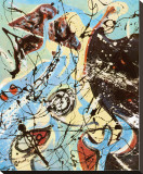 Composition Reproduction transf&#233;r&#233;e sur toile par Jackson Pollock