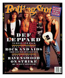 Def Leppard, Rolling Stone no. 629, April 1992 Photographic Print by Mark Seliger