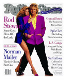 Rod Stewart and Rachel Hunter, Rolling Stone no. 608/609, July 1991 Photographic Print by Andrew Eccles