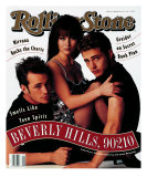 Cast of Beverly Hills 90120, Rolling Stone no. 624, February 1992 Photographic Print by Andrew Eccles