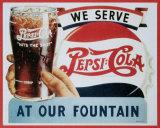 Pepsi- Cola Plaque en métal