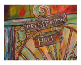 Preservation Hall Giclee Print by Angel Turner Dyke