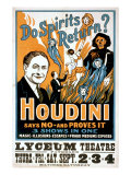 Do Spirits Return Houdini Says No Posters