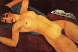 Reclining Nude Art by Amedeo Modigliani