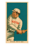 Tris Speaker, 1909 White Borders (T206) Baseball Card Series Prints