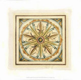 Crackled Cloisonne Tile I Giclee Print by Chariklia Zarris