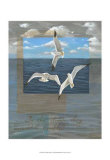 Three White Gulls II Posters by Tara Friel